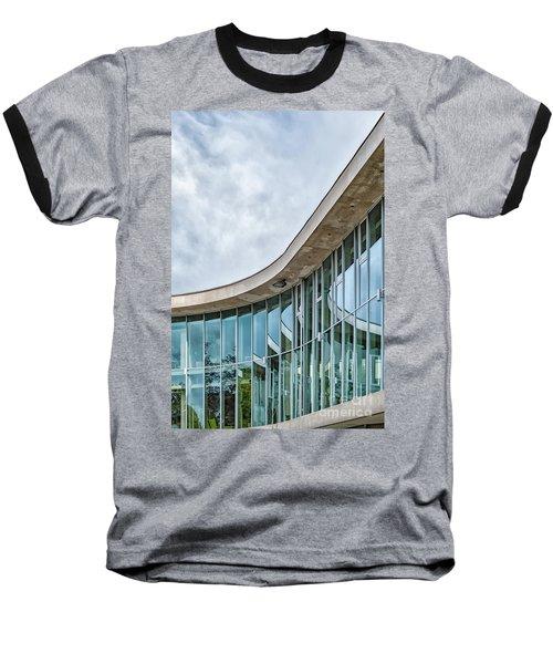 Baseball T-Shirt featuring the photograph Halmstad University Labrary Detail by Antony McAulay