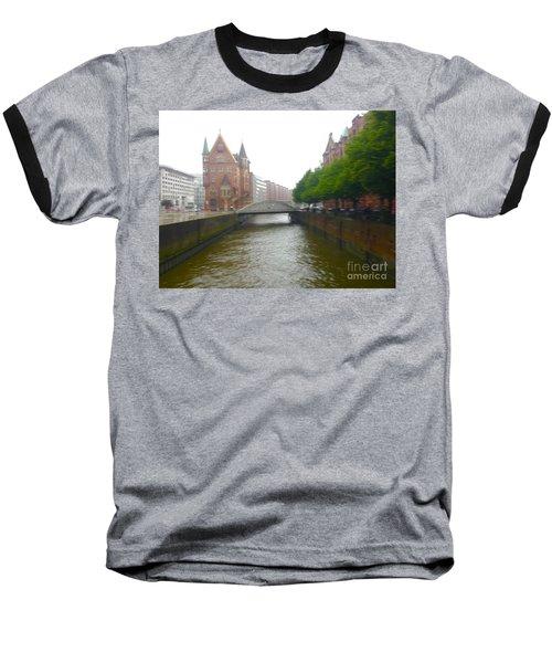 Hamburg Germany Canal Baseball T-Shirt
