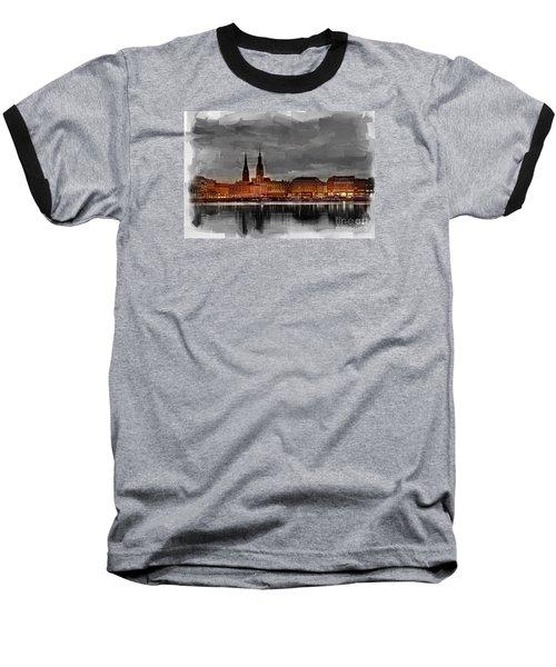 Hamburg Germany Skyline 01 Baseball T-Shirt