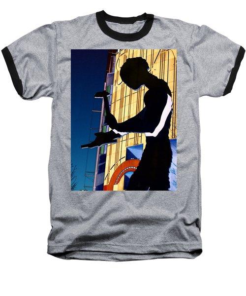 Hammering Man Baseball T-Shirt by Tim Allen