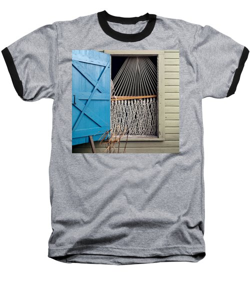 Baseball T-Shirt featuring the photograph Hammock In Key West Window by Brent L Ander