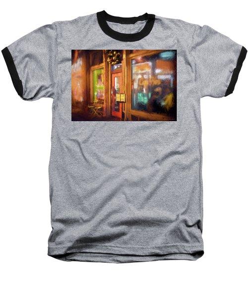 Hampden Cafe Baseball T-Shirt by Glenn Gemmell