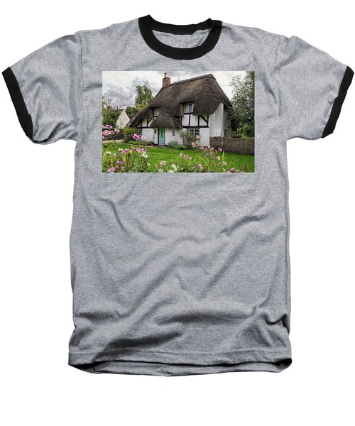 Hampshire Thatched Cottages 8 Baseball T-Shirt