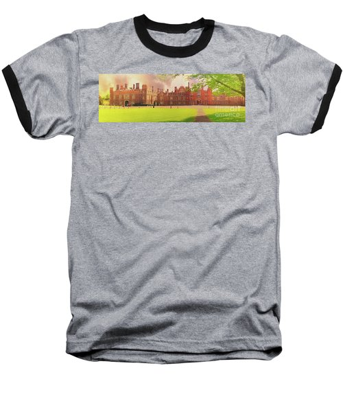 Hampton Court Palace Panorama Baseball T-Shirt