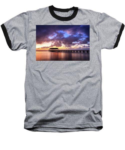 Hanalei Pier Baseball T-Shirt by James Eddy