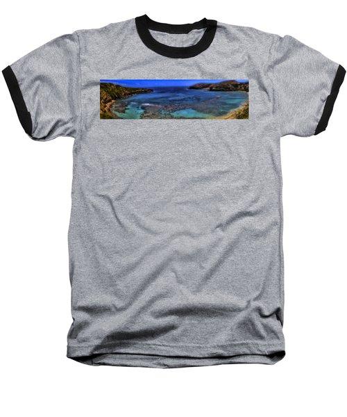Baseball T-Shirt featuring the photograph Hanauma Bay Panorama by Ellen Heaverlo