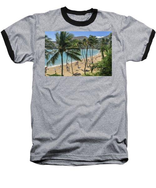 Baseball T-Shirt featuring the photograph Hanauma Bay by Steven Sparks