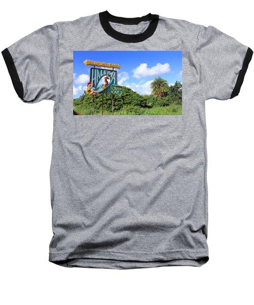 Hand-carved Hale'iwa Baseball T-Shirt