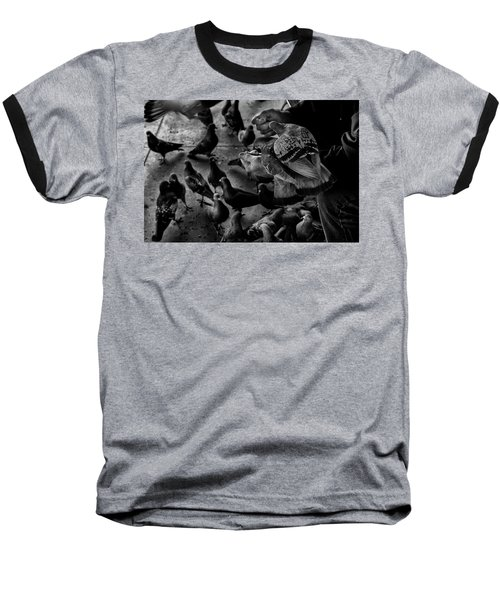 Hand Feeding Baseball T-Shirt by James David Phenicie