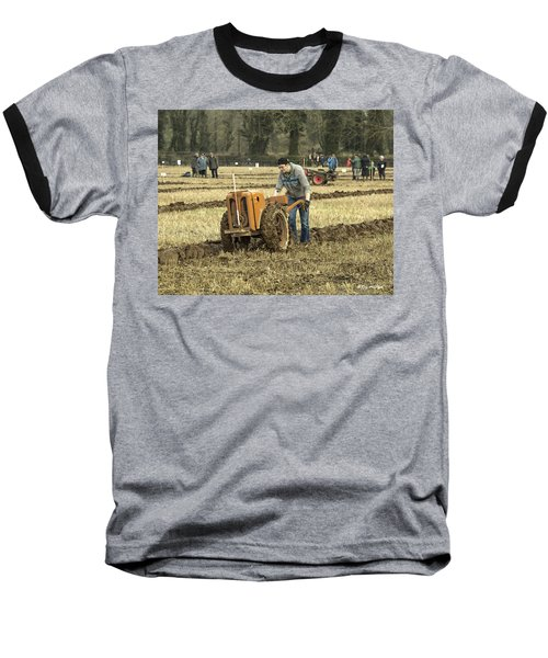 Hand Held Tractor Plough Baseball T-Shirt by Roy McPeak