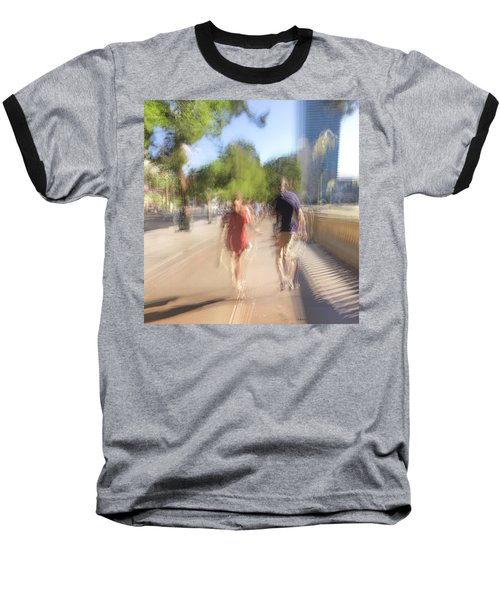 Baseball T-Shirt featuring the photograph Hand In Hand by Alex Lapidus