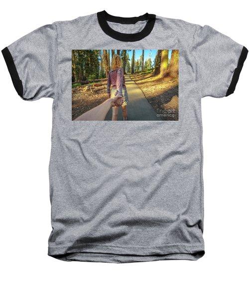 Hand In Hand Sequoia Hiking Baseball T-Shirt