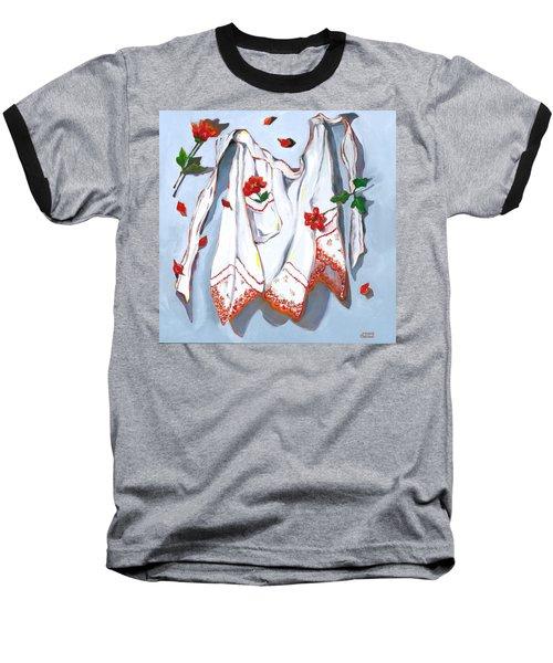 Handkerchief Apron Baseball T-Shirt by Susan Thomas