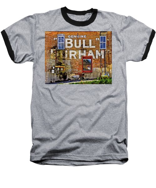 Baseball T-Shirt featuring the photograph Handpainted Sign On Brick Wall by David and Carol Kelly