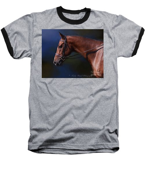 Handsome Profile Baseball T-Shirt by Kathy Russell