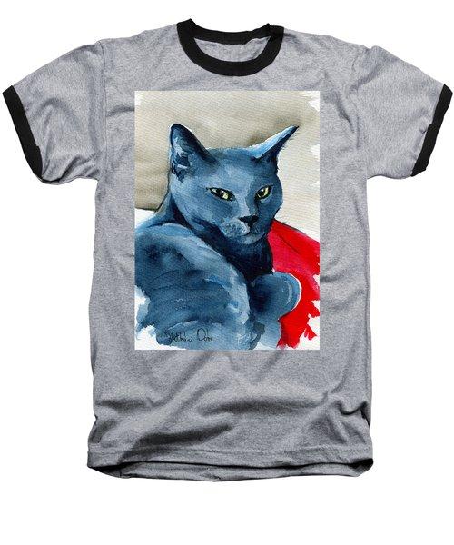 Handsome Russian Blue Cat Baseball T-Shirt