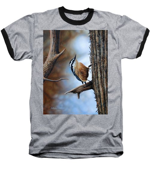 Hangin Out - Nuthatch Baseball T-Shirt