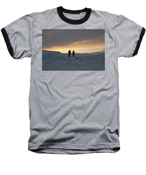 Baseball T-Shirt featuring the photograph Hanging Around Iceland by Dubi Roman