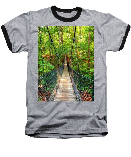 Hanging Bridge Baseball T-Shirt by Ester  Rogers
