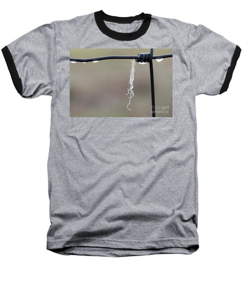 Baseball T-Shirt featuring the photograph Hanging By A Thread by Linda Lees