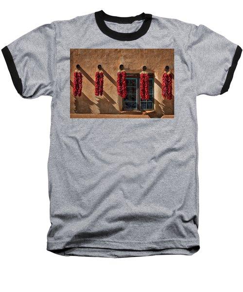 Hanging Chili Ristras - Taos Baseball T-Shirt