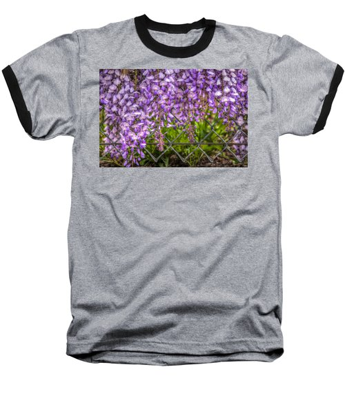 Hanging On The Fence, Wisteria Baseball T-Shirt