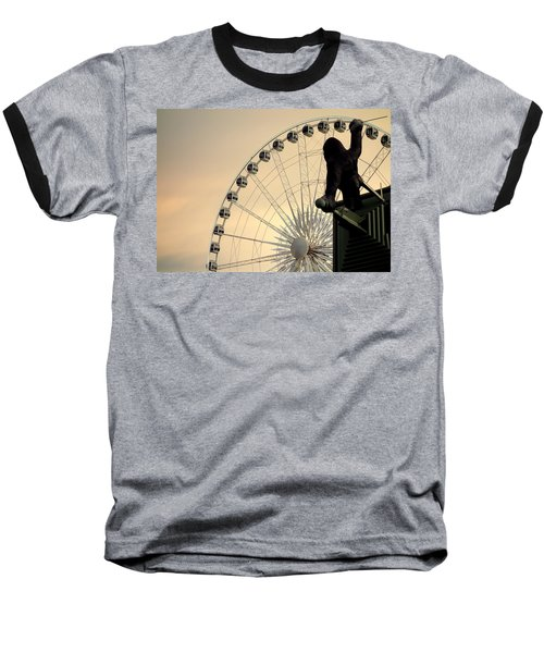 Baseball T-Shirt featuring the photograph Hanging On The Wheel by Valentino Visentini