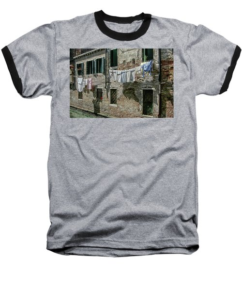 Hanging Out The Flags Baseball T-Shirt