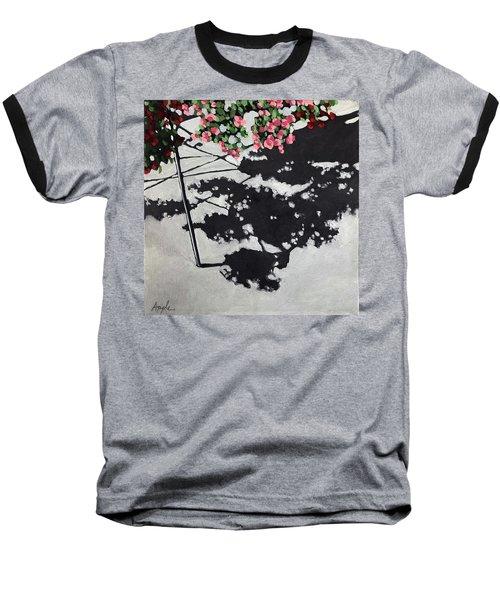 Hanging Shadows - Floral Baseball T-Shirt