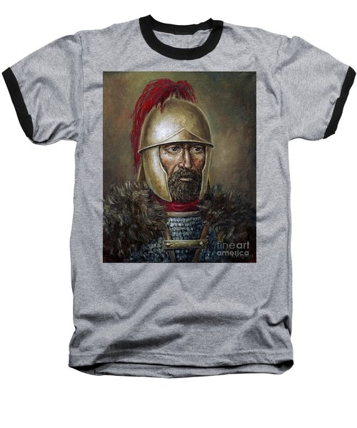 Hannibal Barca Baseball T-Shirt by Arturas Slapsys
