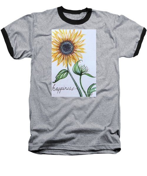Happiness Baseball T-Shirt by Elizabeth Robinette Tyndall