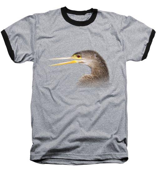 Happy Anhinga Baseball T-Shirt