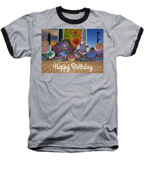Happy Birthday Shells Baseball T-Shirt