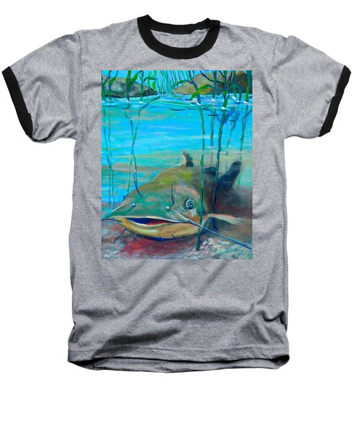 Happy Catfish Baseball T-Shirt by Jeanette Jarmon