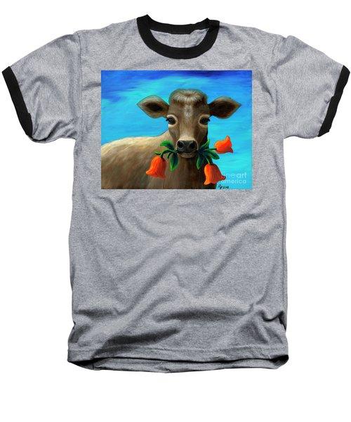Happy Cow Baseball T-Shirt