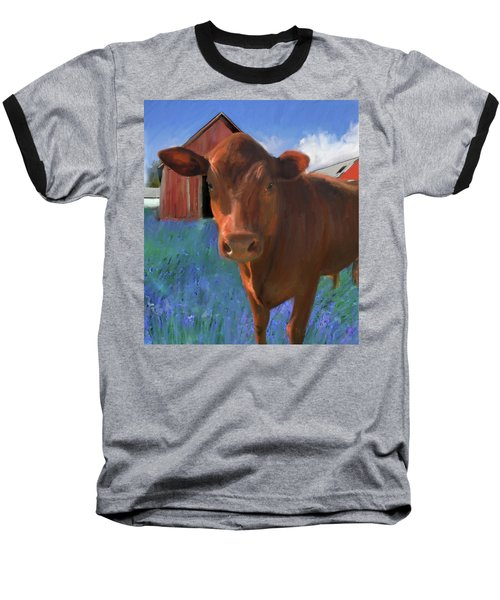 Happy Cow West Marin  Baseball T-Shirt