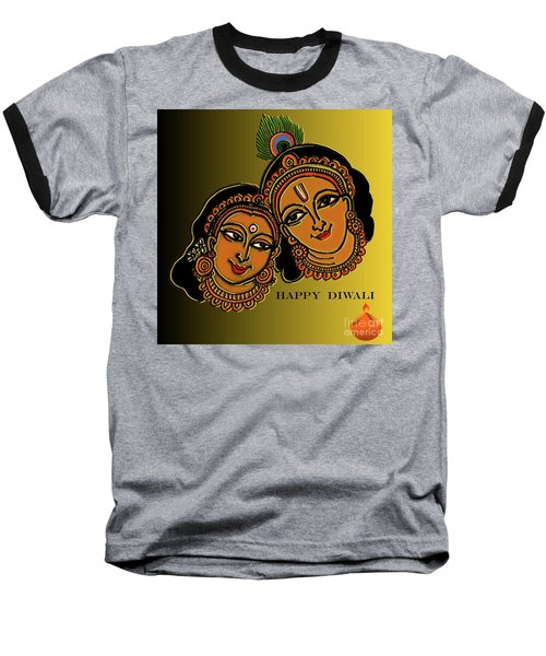 Happy Diwali Baseball T-Shirt by Latha Gokuldas Panicker