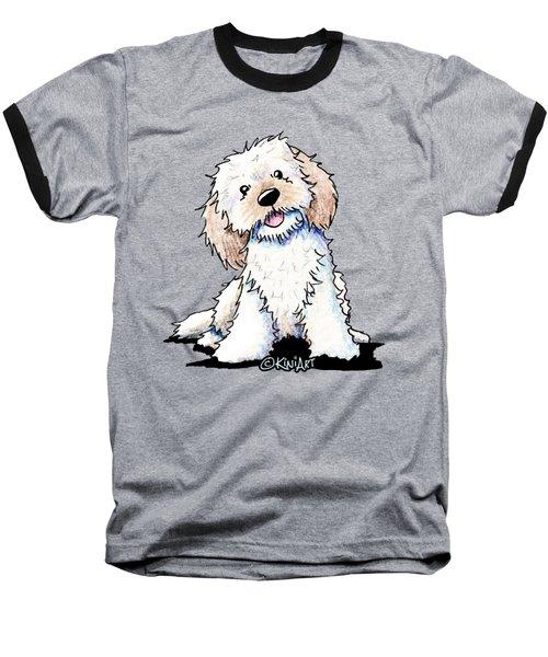Happy Doodle Puppy Baseball T-Shirt