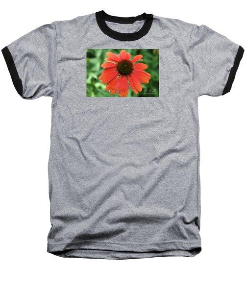 Happy Face Flower Baseball T-Shirt