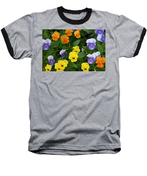 Baseball T-Shirt featuring the digital art Happy Faces by Barbara S Nickerson