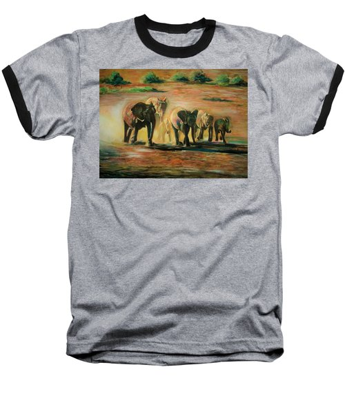 Happy Family Baseball T-Shirt by Khalid Saeed