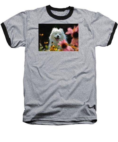 Happy Gal In The Garden Baseball T-Shirt
