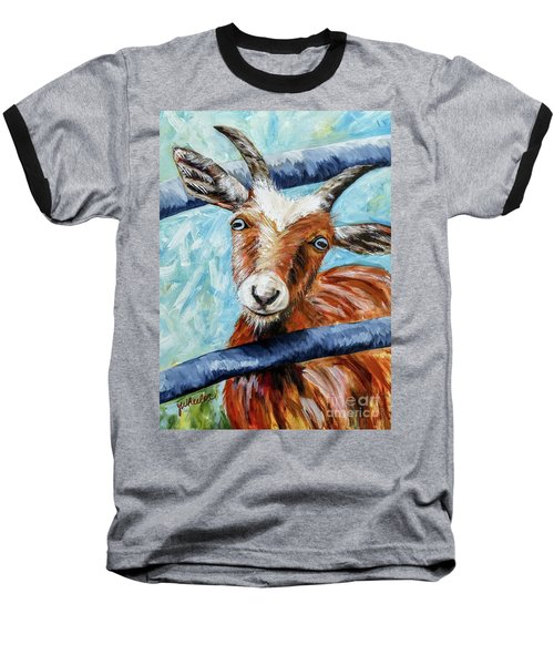 Happy Goat Baseball T-Shirt