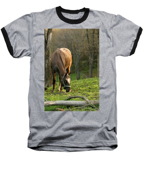 Baseball T-Shirt featuring the photograph Happy Grazing by Angela Rath