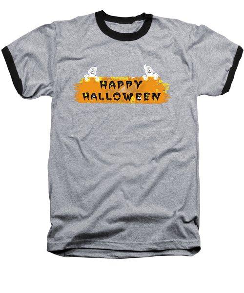 Happy Halloween - T-shirt Baseball T-Shirt by Robert J Sadler