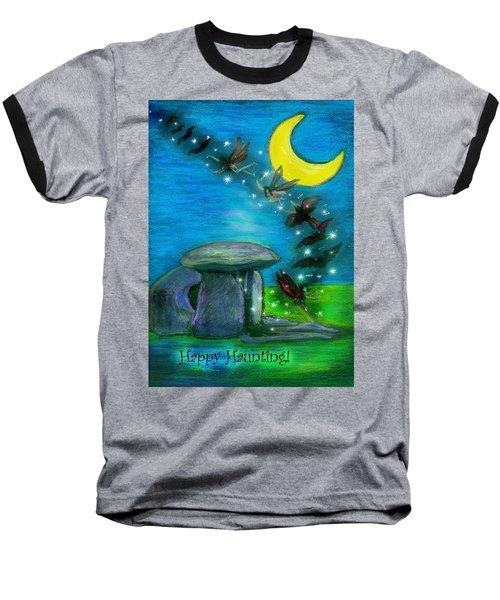 Happy Haunting Baseball T-Shirt by Diana Haronis