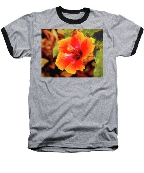 Happy Hibiscus Baseball T-Shirt