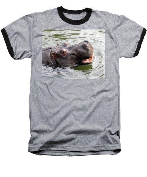 Happy Hippo Baseball T-Shirt