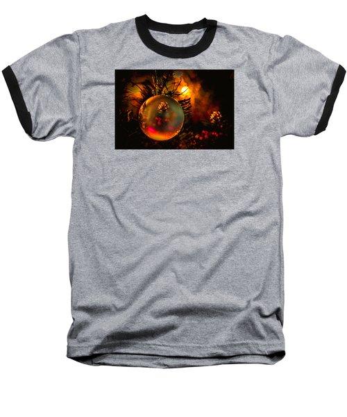 Happy Holidays Background Baseball T-Shirt