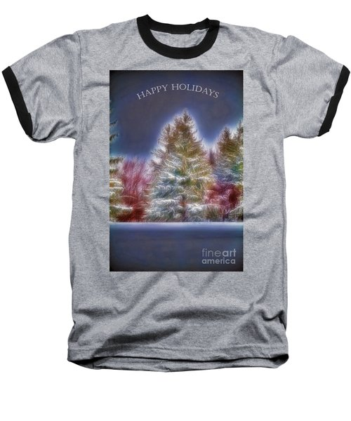 Baseball T-Shirt featuring the photograph Happy Holidays by Jim Lepard